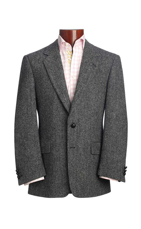 tweed color herringbone harris tweed jacket by scotweb