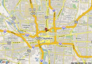 Map Of Downtown Columbus Ohio by Map Of Hampton Inn Amp Suites Columbus Downtown Columbus