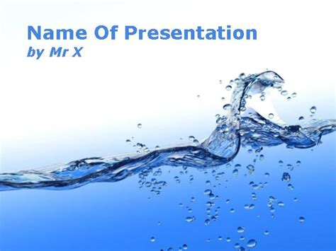 Water Stream Blue Theme Powerpoint Template Water Powerpoint Template