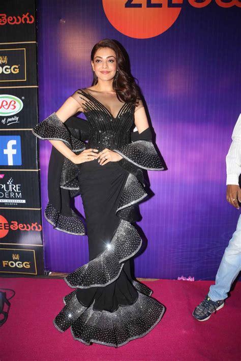 zee telugu actress name with photo actress kajal aggarwal photos at zee telugu apsara awards