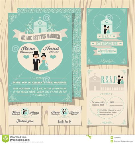 church wedding invitation card template vintage soft green theme wedding invitation stock vector