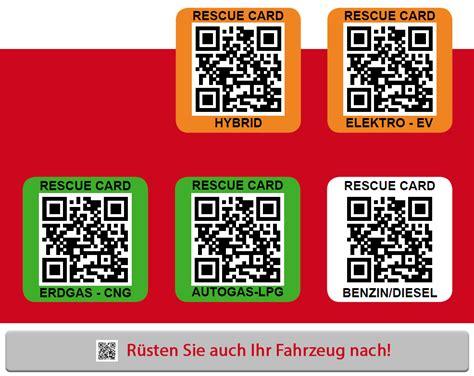 Aufkleber Rettungskarte Bestellen by Rettungskarte Qr Code Auch F 252 R Ihr Fahrzeug Hier Bestellen