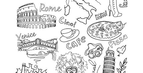 Coloriage Gratuit Voyage Rome Italie Artherapie Ca