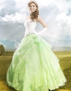light green wedding dresses beautifully illuminated