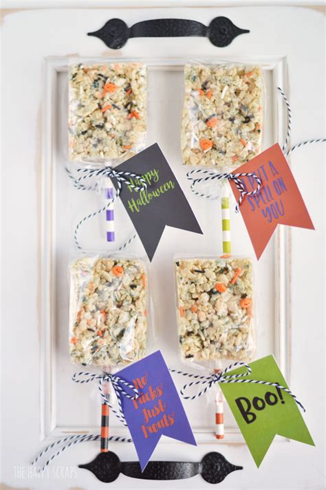 foiled trick or treat printable the happy scraps halloween treats with printable tags the happy scraps