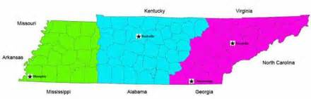 Tn Time Zone Map by Tennessee Three Different And Distinct Places