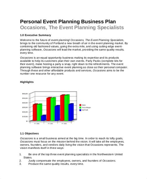 events company business plan template event planning template 10 free word pdf documents