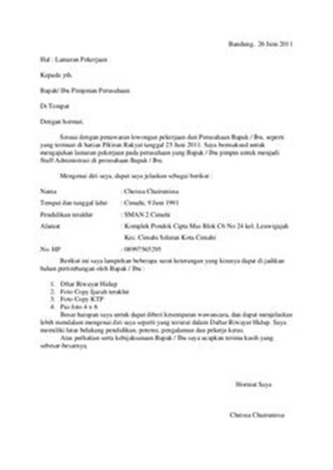 contoh surat lamaran kerja adira quantum ben