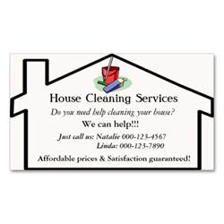 service card template 8 best images of cleaning business card ideas house