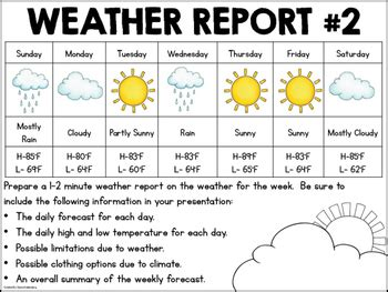 weather pattern quiz meteorologist for a day a weather project for 2nd graders