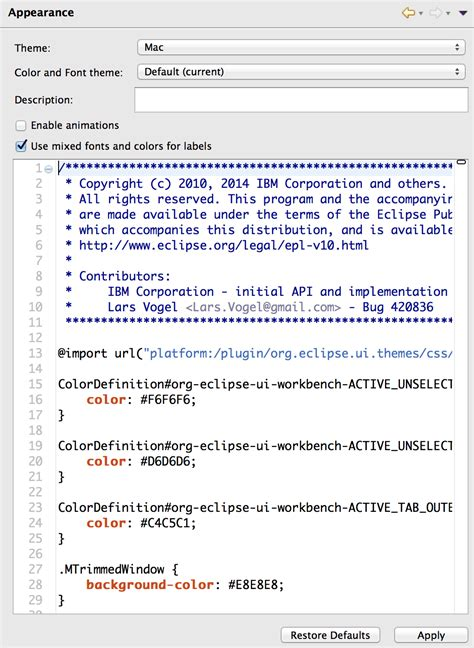 html layout editor eclipse eclipse 4 tools lightweight css editor eclipse plugins