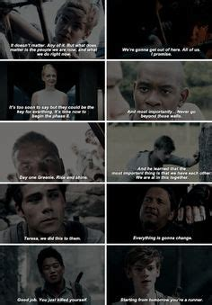 theme quotes in maze runner themazerunner thescorchtrials thomas the maze runner
