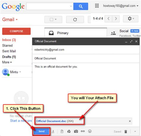 Gmail Search For Emails With Attachments How To Add And Send An Email With Attachment File Using Gmail