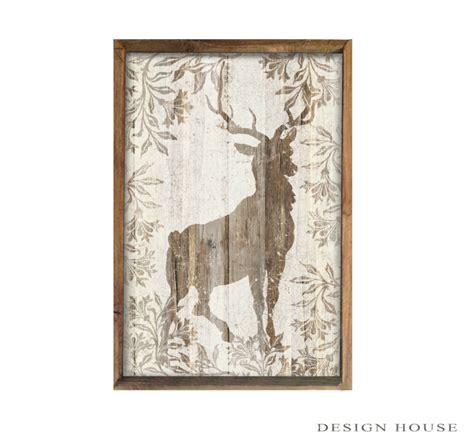 Handmade Wooden Plaques - deer wooden plaque then framed out with wood handmade signs