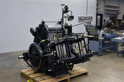 original heidelberg 13 x 18 windmill letterpress boggs equipment