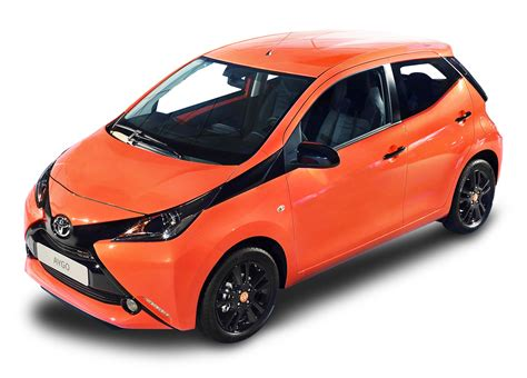 orange cars orange toyota aygo car png image pngpix