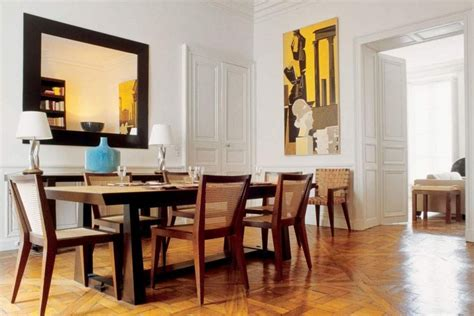 modern mirrors for dining room fascinating rectangular dining table with square mirror