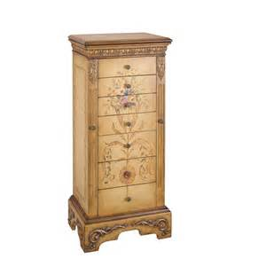 shop powell golden antique parchment floorstanding jewelry