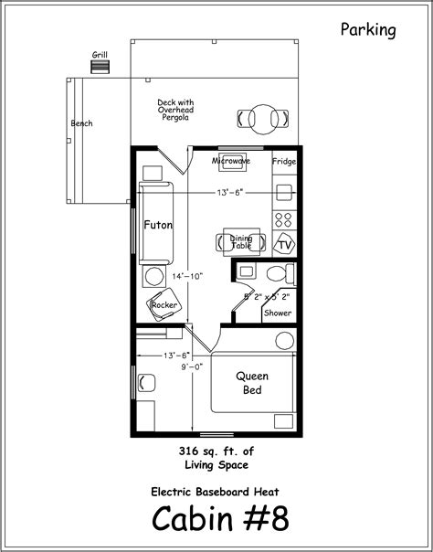 Cabin Floorplan archer s poudre river resort cabin 8
