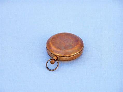 wholesale boutique copper brass collectable handwork get wholesale antique brass scout s push button compass 2