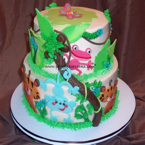 Baby Shower Cake Price List by Fisher Price Rainforest Baby Shower Cake Cake By Peggy Does Cake Cakesdecor
