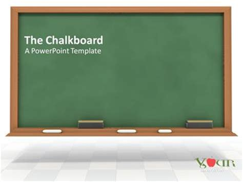 powerpoint themes free download chalkboard the chalkboard a powerpoint template from presentermedia com