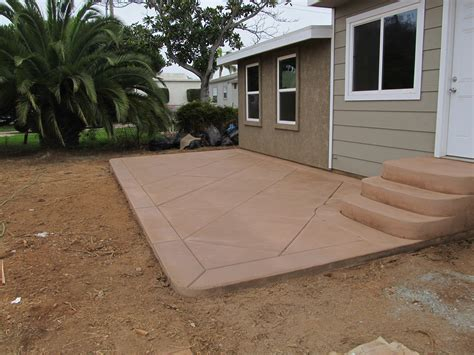 colored concrete patio patios album