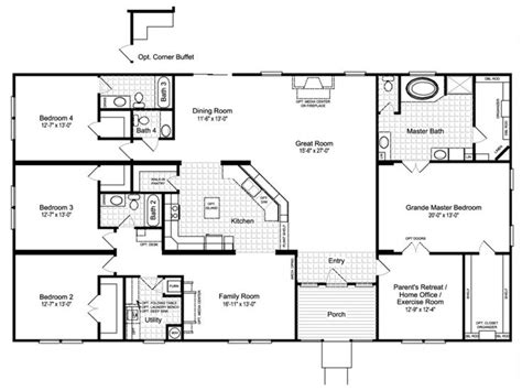 holiday builders floor plans 25 best house plans 4 bedroom images on pinterest mobile