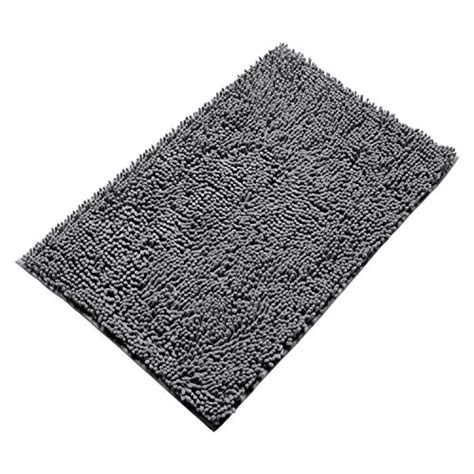 Buy Bathroom Rugs Vdomus Non Slip Microfiber Shag Bathroom Mat 20 X 32 Inches Grey Buy In Uae