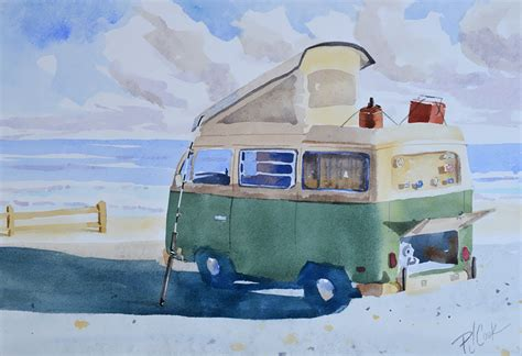 volkswagen bus painting old vw bus cer pj cook gallery of original fine art
