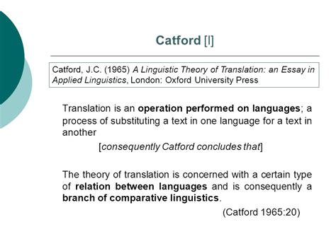 thesis about translation shift consequently catford concludes that ppt video online