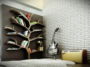 Modern Bookshelf Plans by Modern Bookcase As Tree Interior Design Inspirations