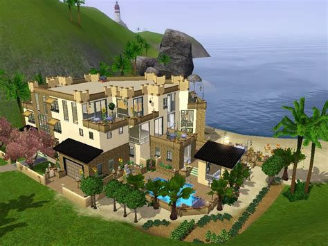 the view house mod the sims modern house with a view