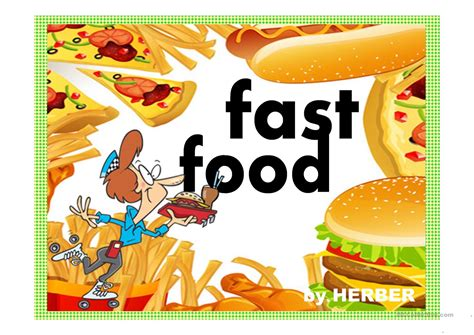 Fast Food Ppt Worksheet Free Esl Projectable Worksheets Made By Teachers Fast Food Ppt Slides