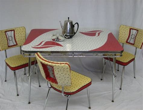 mid century modern vintage retro kitchen set table and