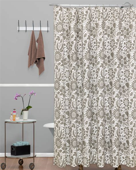 Simple Shower Curtains Essential Home Shower Curtain Simple Floral Home Bed Bath Bath Bathroom Accessories