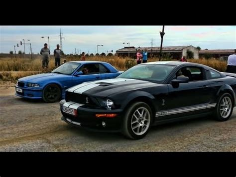 Mustang Vs Bmw by 335i Bmw Vs 2010 Shelby Mustang Doovi