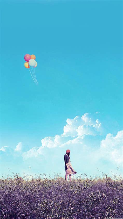 wallpaper handphone iphone wallpaper xiaomi mi3 mi4 full hd 1080 1920 girl alone balloons
