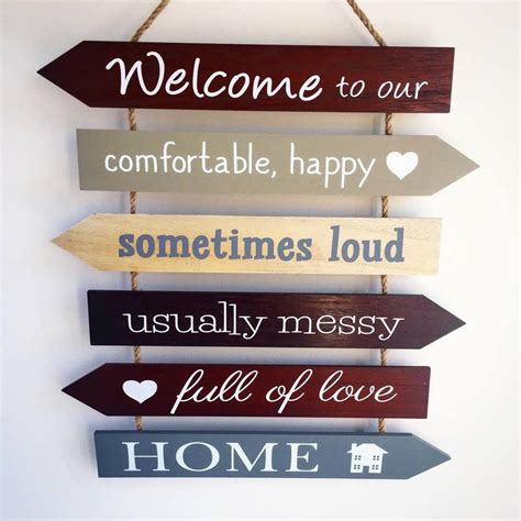 welcome to our home sign by the alphabet gift shop