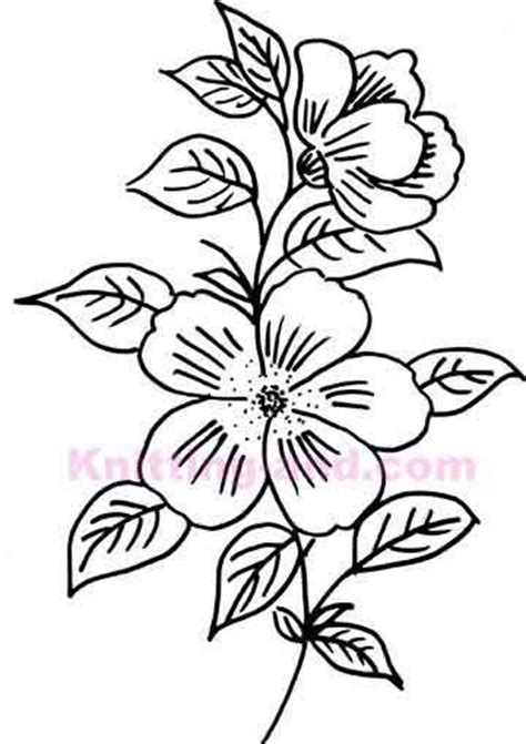 flower pattern embroidery hand drawn flower embroidery design patterns pinterest