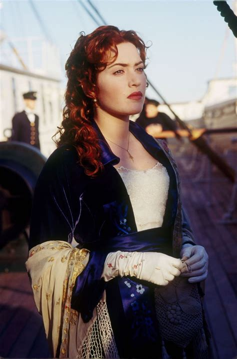 film titanic biographie kate winslet as rose in titanic my heart will go on
