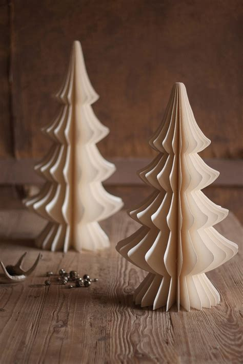 Folding Paper Trees - diy folding paper trees crafts