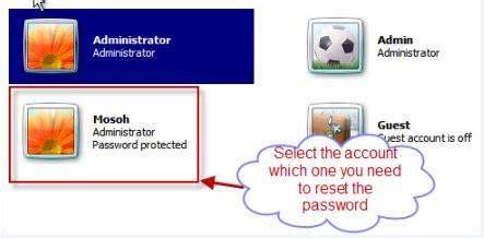 reset windows vista administrator password safe mode how to reset windows 7 administrator user password in safe