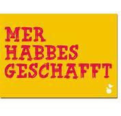 Hessische Postkarte Mer Habbes Geschafft  MainSpatzen