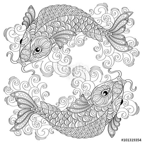broken circles coloring book 27 beautiful unique broken circle designs to color books quot koi fish carps antistress coloring page