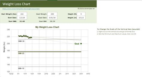 Weight Loss Chart Excel Templates For Every Purpose Weight Loss Excel Template