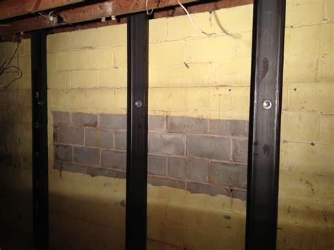 Horizontal Cracks in Basement Walls   Bowing Basement Wall