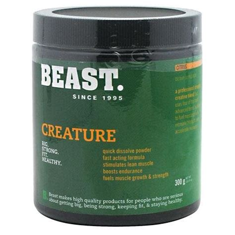 b creature creatine reviews beast creature powder 300g citrus best health and