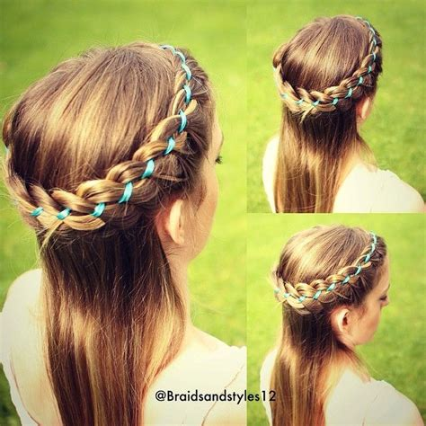 half up half down hairstyles with ribbon 1000 images about girls hairstyles videos on pinterest