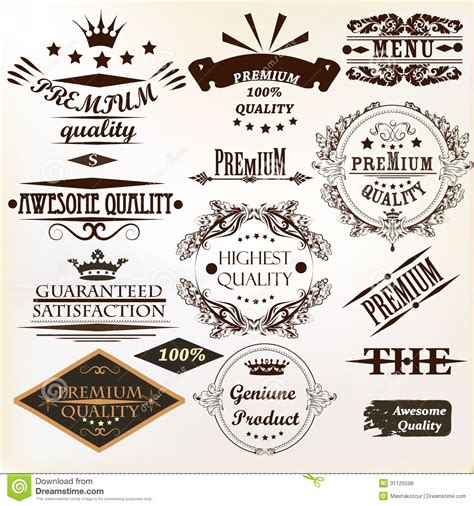 Best Quality Syari Vintage collection of vintage vector labels best and premium quality stock vector image 31120598